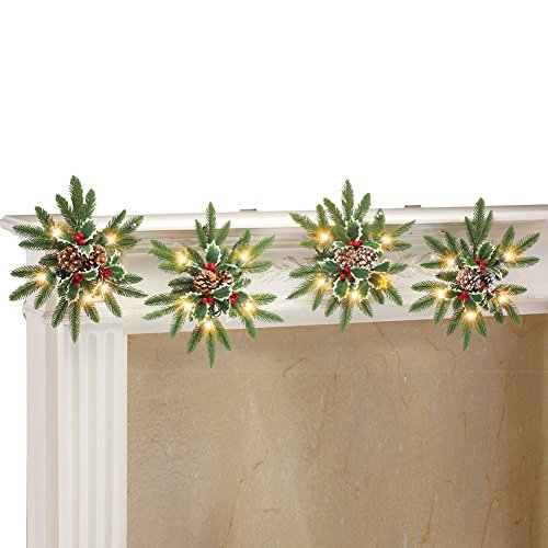Outdoor Lighted Snowflake Ornaments - 5