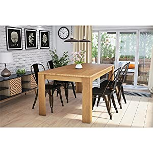 com dorel living weston block leg dining table beige tables