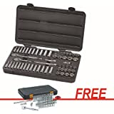 GearWrench 80550F 57-Piece 3/8 in. Drive 6-Point SAE/Metric Socket Set with FREE 51-Piece 1/4 in. SAE/Metric Standard/Deep Socket Set