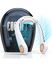 TORRAS Coolify Portable Air Conditioner Neck Fan, Hands Free Semiconductor Cooling Bladeless Fan, 4000 mAh Rechargeable Leafless Mini USB Fan for Outdoor/ Home/ Office, 3 Speeds