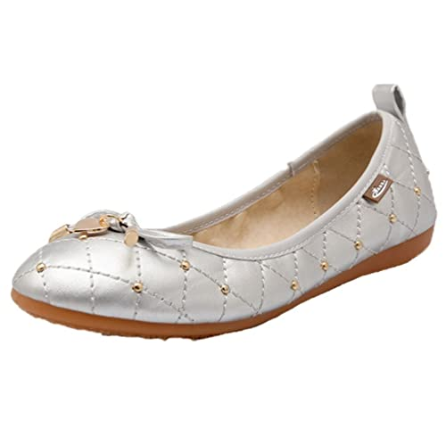 934c584dcc8c Ohmais Chaussure femme cérémonie Ballerines femme à bride Fête Demoiselle  d honneur Mariage Escarpin plat  Amazon.fr  Chaussures et Sacs