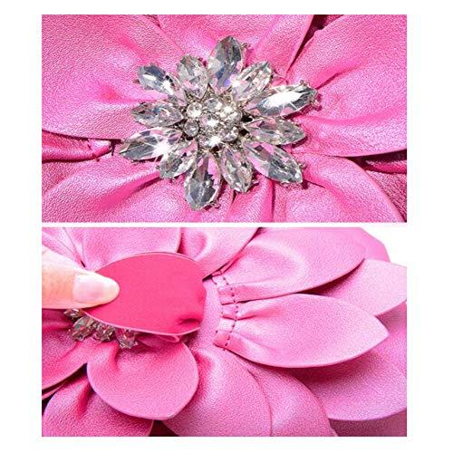 Bolso Para Cadena Mano Capacidad 6 Embrague Cm Mujer Verde Diamante Moda De 23 Cruz Blue Flor Bolsa 18 Diagonal Gran SRrqSE