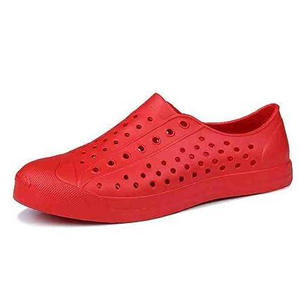 Zapatillas MAZHONG Sandalias de Verano Hombres Sandalias de Tacón Pareja Zapatos de plástico de Playa Baño