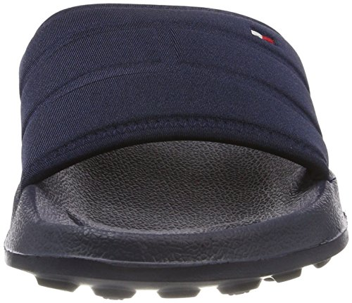 Tommy Hilfiger Herren Corporate Flag Pool Slide Badeschuhe Blau (Midnight 403)