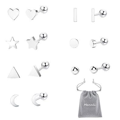 Moon Star Cartilage Tragus Ear Ring Bar Piercing Stud Body Jewellery