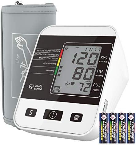 Automatische Blutdruck messgerät für den Heimgebrauch mit Großem LCD Display, Annsky Oberarm Elektronik Blutdruckmessgerät zur Messung von Blutdruck und Herzfrequenzpuls, 2 Sätze von Benutzerspeichern