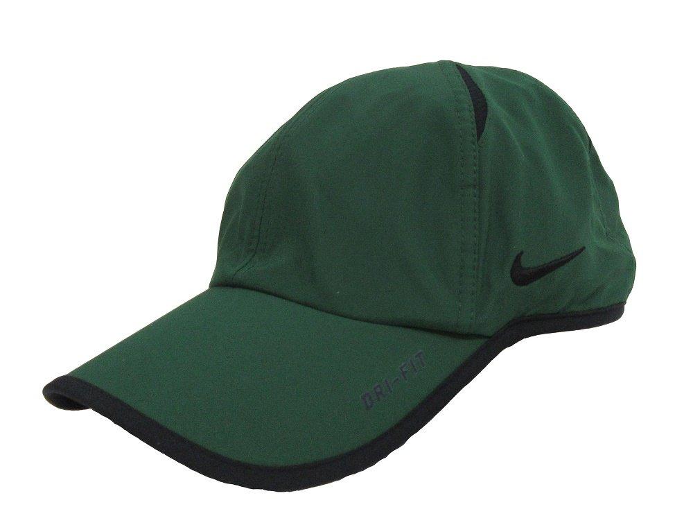 Nike Unisex Featherlight Hat (One Size, Gorge Green/Black/Black)