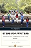 Steps for Writers : Sentence and Paragraph to the Essay, Volume 1 (with MyWritingLab with Pearson EText), Eggers, Phillip, 020584314X