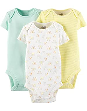 Child Of Mine Made By Carter's Unisex Baby Short Sleeve Bodysuits