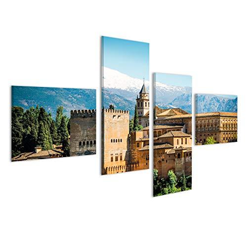 islandburner Cuadro Cuadros Vista de la Famosa Alhambra, Granada, Espana Genial y Muy Bonito! NOL