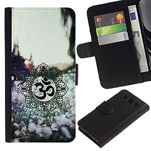 APlus Cases // Samsung Galaxy S3 III I9300 // India Símbolos primavera naturaleza flores // Cuero PU Delgado caso Billetera cubierta Shell Armor Funda Case Cover Wallet Credit Card