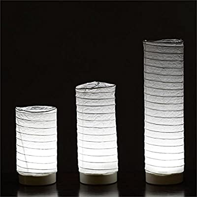 BalsaCircle 3 pack Tabletop Paper LANTERNS with LED Lights Wedding Decoration
