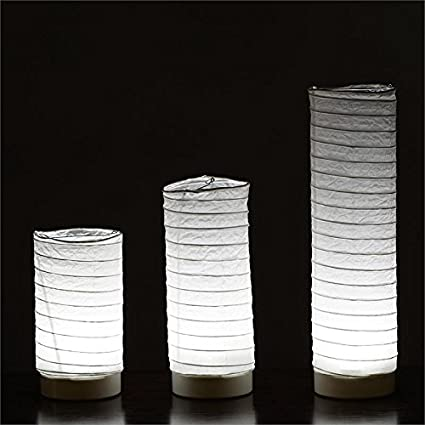 BalsaCircle 3 Pcs White Tabletop Paper Lanterns With LED Lights   Wedding  Party Home Room Decorations