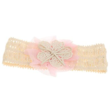 52696824140 Electomania Cute Lace Flower Kids Baby Girl Toddler Headband Hair Band  Headwear (Pink)  Amazon.in  Clothing   Accessories