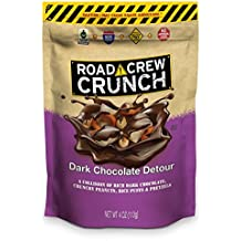Road Crew Crunch Dark Chocolate Detour Salty-Sweet Snack with Peanuts, Pretzels and more - Made with Gluten Free Ingredients, Fair Trade Certified - 4 Ounce Bag, (Pack of 6)