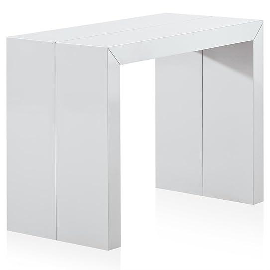 Menzzo ATL8027 Contemporain Nassau XL Table Console Bois Laqué ...