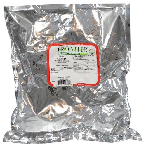 Rosehips Whole Organic - 1 lb,(Frontier)