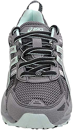 ASICS Women's Gel-Venture 5 Trail Running Shoe, Frost Gray/Silver/Soothing Sea, 8 M US