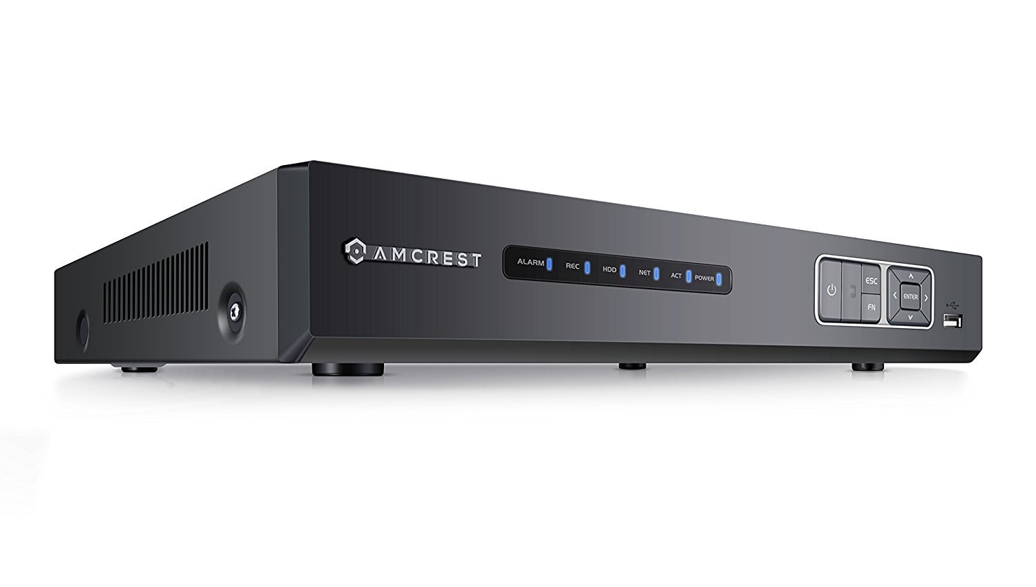 Amcrest NV1104E 1080p POE NVR (4CH 1080p/3MP/4MP/5MP) Network Video Recorder - Supports up to 4 x 2.1MP POE IP Cameras @ 30fps Realtime, Supports up to 4TB HDD (Not Included) (Renewed) by Amcrest