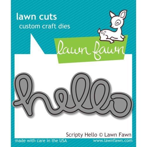Lawn Fawn Cuts Scripty Hello Universal Custom Craft Cutting Dies LF610 by Lawn Fawn