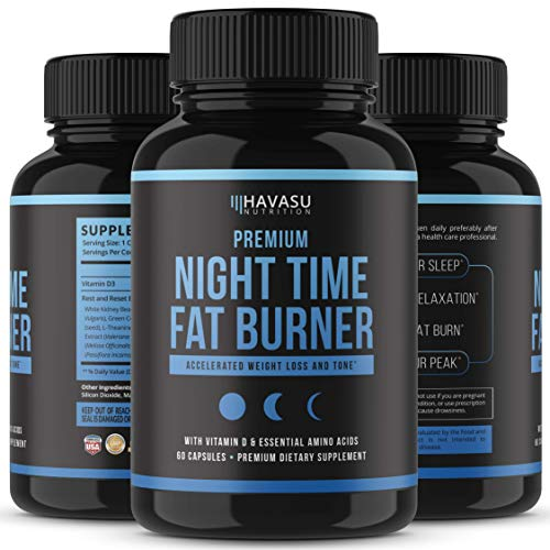 Night Time Weight Loss Pills with Premium Vitamin D, Green Coffee Bean Extract, White Kidney Bean Extract, L-Theanine, L-Tryptophan, Melatonin- Non Habit Forming PM Fat Burner & Metabolism Booster by Havasu Nutrition (Image #3)