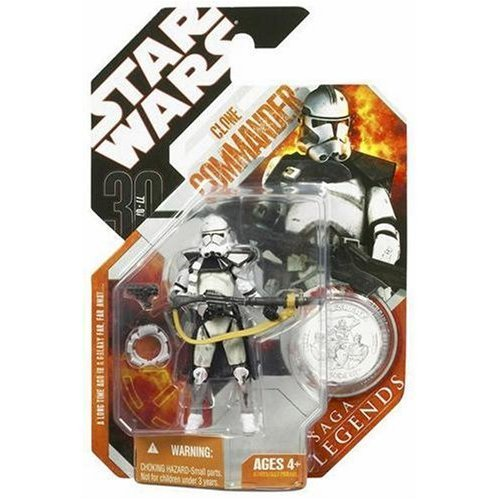 Star Wars: Saga Legends Clone Commander (Silver) Action Figure