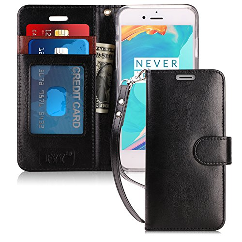 FYY Case for iPhone 6S/iPhone 6, [Kickstand Feature] Flip Folio Leather Wallet Case with ID and Credit Card Pockets for Apple iPhone 6/6S (4.7) Black
