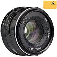 Meike MK-50mm F2.0 Large Aperture Manual Focus Lens for Sony E Mount Camera NEX3/3N/5/5T/5R/6/7/A5000/A5100/A6000/A6100/A6300