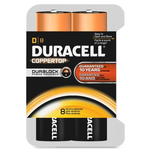 Wholesale CASE of 10 - Duracell Coppertop Alkaline D Batteries-Alkaline Battery, D Size, 8/PK
