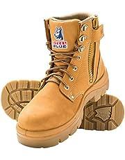 Steel Blue 'Argyle' 312152 Work Boots. Steel Toe Cap Safety. Zip.