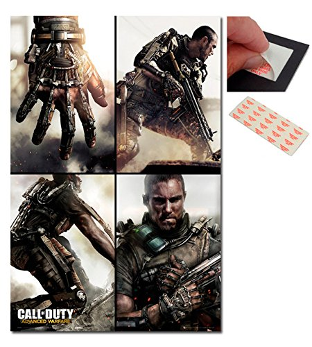 Price comparison product image Bundle - 2 Items - Call Of Duty Advanced Warfare Grid Poster - 91.5 x 61cms (36 x 24 Inches) and a Set of 4 Repositionable Adhesive Pads For Easy Wall Fixing