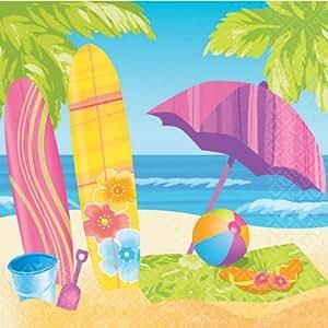Surfs Up Beverage Napkins 16ct
