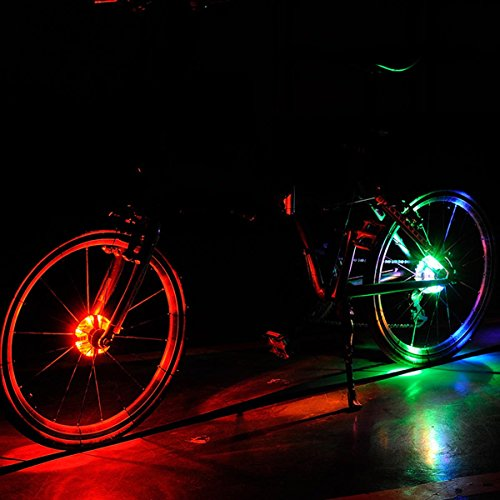 Colorful LED Bicycle Wheel Decoration Lights 3 Modes Cycling Bike Spoke Light Safety Light by LoveUlife (Image #4)