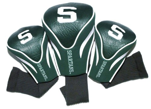 NCAA Michigan State Spartans 3 Pack Contour Golf Club Headcover -