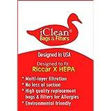Riccar/Simplicity Vacuum Cleaner Type X HEPA Bags by iClean Vacuums (10 Bags)
