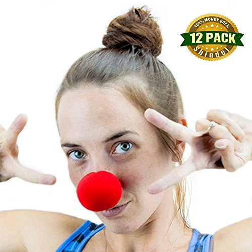Shindel Foam Clown Noses for Sports Fan,Cheerleaders, Carnival, Cosplay, Halloween, Christmas ,Red 12 PCS