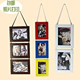3 Pieces Combination Wall Hanging Cute Photo Frame,Creative Diy Pictures Frame for Home Decoration Porta Retrato
