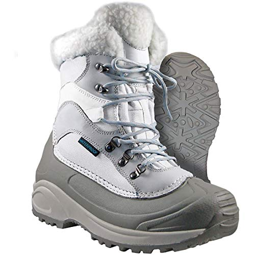 Boots Itasca Womens (Itasca Women's Sleigh Bell Winter Boots Grey/White Size 10)
