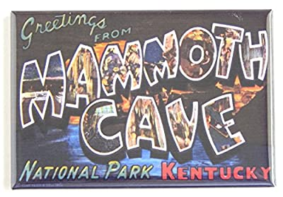 Greetings From Mammoth Cave Kentucky Fridge Magnet (2 x 3 inches)