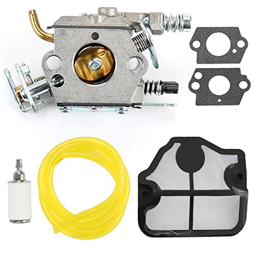 Harbot Carburetor Air Filter Gasket Fuel Line Tune-up Kit For Poulan 295 2200 2500 2600 2750 2775 2900 3050 PP255 PP295 PP310 PP315 PP4620AV PP4620AVHD PP4620AVL PP4620AVX Gas Chainsaw