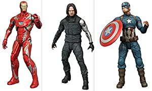 Captain America Civil War: Captain America, Winter Soldier and Iron Man Mark 45 Action Figures Set of 3