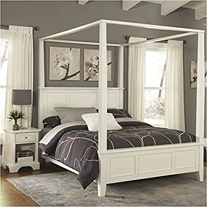 Amazon.com: BOWERY HILL 2 Piece King Canopy Bedroom Set in ...