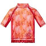 UV Skinz UPF 50+ Girls Short Sleeve Sunny Swim Shirt (4T, Coral Mermaid)