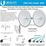 Ubiquiti PowerBeam AC Gen2 5 GHz PBE-5AC-Gen2 High Performance airMAX (2Pack)