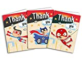 Children's Thank You Cards SuperHero Mixed Pack x 24 Cards