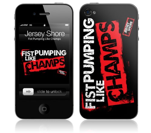Zing Revolution MS-JYSH30133 Jersey Shore - Fist Pumping Like Champs Cell Phone Cover Skin for iPhone - D Snooki And Pauly