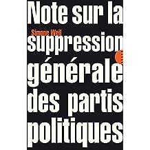 Note sur la suppression générale des partis politiques