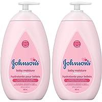 Johnson's Baby Lotion, Body Moisturizer for Dry, Delicate Skin, 2x800ml
