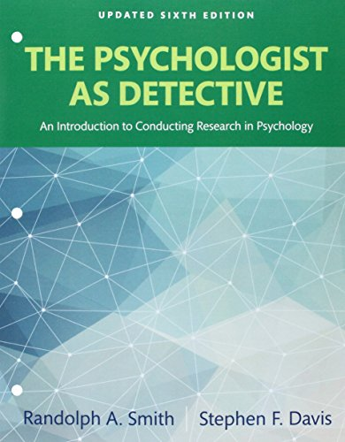 Revel for The Psychologist as Detective: An Introduction to Conducting Research in Psychology Books a la Carte Edition P