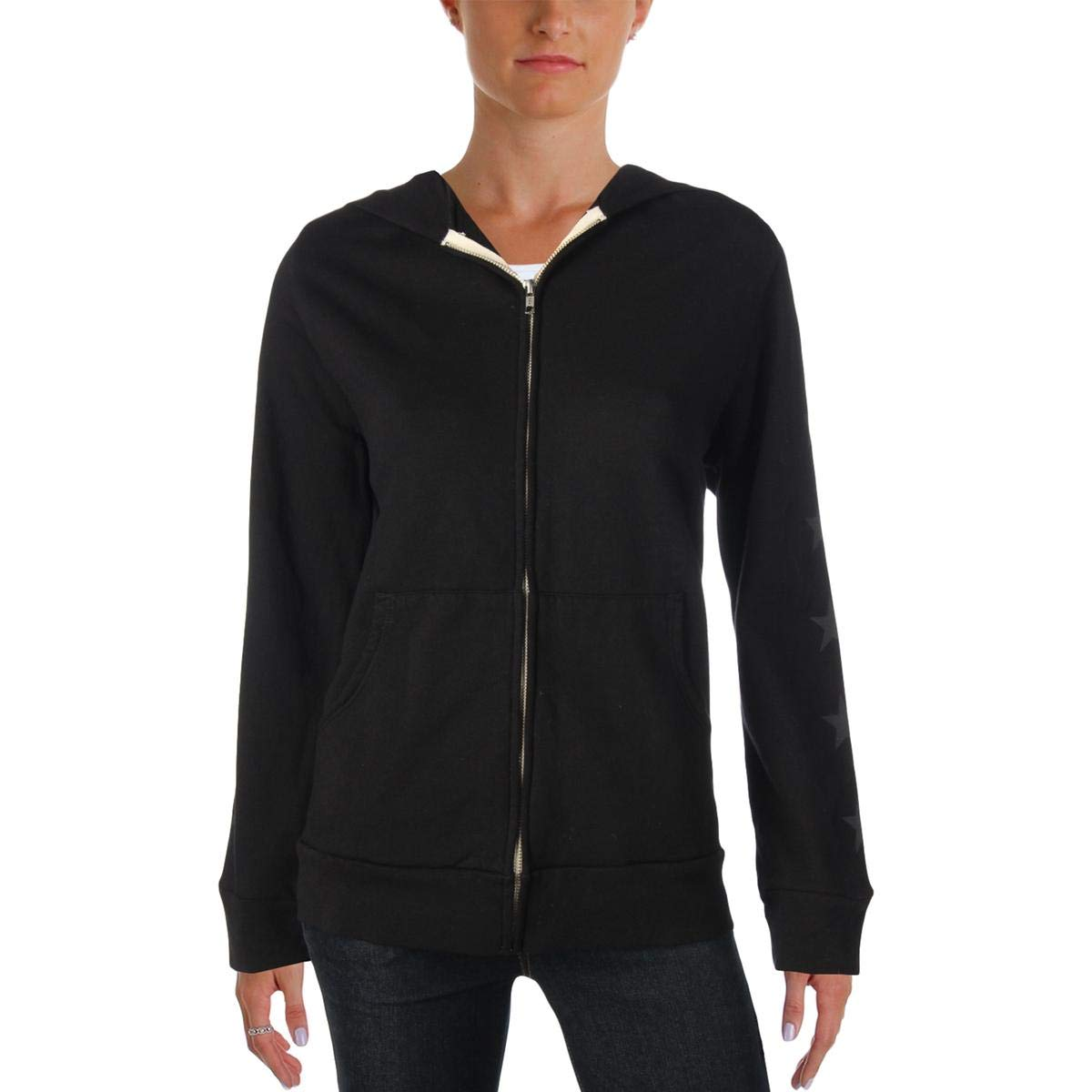 Monrow Womens Hooded Graphic Sweatshirt HJ0122